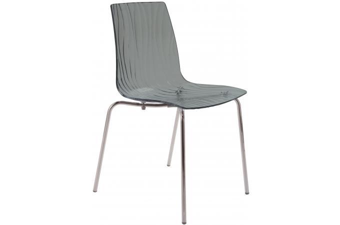 Chaise Design Transparente Grise OLYMPIE