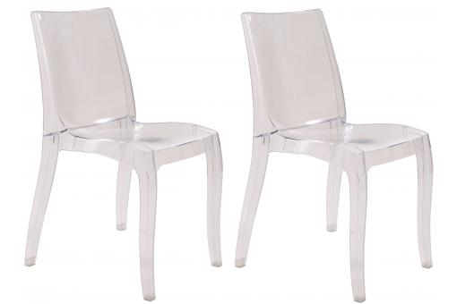 Lot de 2 chaises transparentes ATHENES