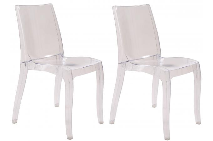 lot de 2 chaises transparentes athenes chaise design pas cher. Black Bedroom Furniture Sets. Home Design Ideas