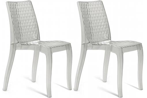Lot de 2 chaises transparentes DELPHES