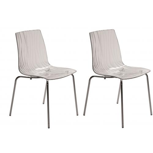 Lot de 2 Chaises Design Transparentes OLYMPIE