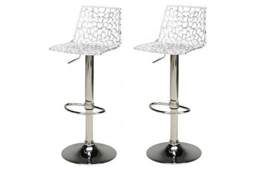 Lot de 2 Tabourets de Bar Design Transparents SPARTE