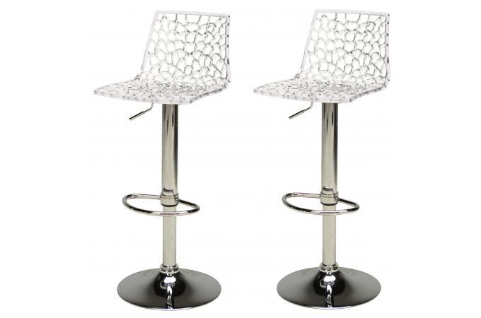 lot de 2 tabourets de bar design transparents sparte. Black Bedroom Furniture Sets. Home Design Ideas