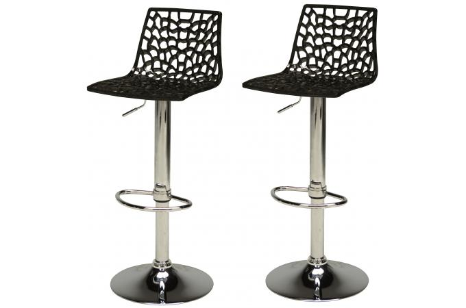 lot de 2 tabourets de bar design noirs sparte tabouret de bar pas cher. Black Bedroom Furniture Sets. Home Design Ideas