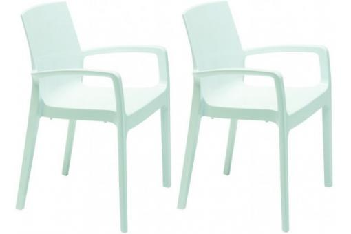 Lot de 2 Chaises Design Blanches GENES