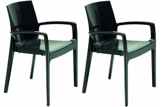 lot de 2 chaises design noires genes chaise design pas cher. Black Bedroom Furniture Sets. Home Design Ideas