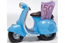 Tirelire vespa vintage bleue - Tirelire design
