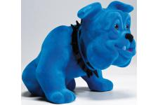 Figurine chien bouledogue assis bleu - Statue design