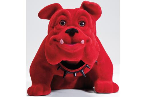 Figurine Kare Design chien bouledogue assis rouge