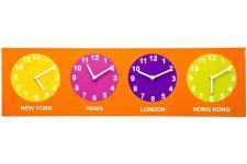 Horloge Design Horloge murale Kare Design orange Travel L.70cm, deco design