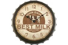 Horloge Design Horloge marron en bois Homemade, deco design