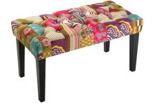 Banquette patchwork multicolore en coton Rosa - Collection deco orientale