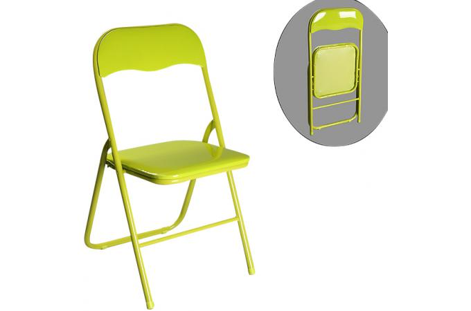 chaise pliante verte estrada chaise pliante pas cher. Black Bedroom Furniture Sets. Home Design Ideas