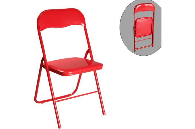 chaise pliante rouge estrada chaise pliante pas cher. Black Bedroom Furniture Sets. Home Design Ideas