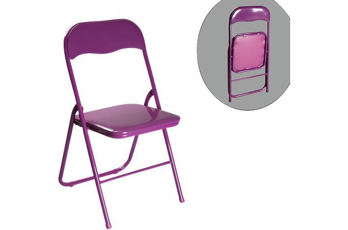chaise pliante aubergine estrada chaise pliante pas cher. Black Bedroom Furniture Sets. Home Design Ideas