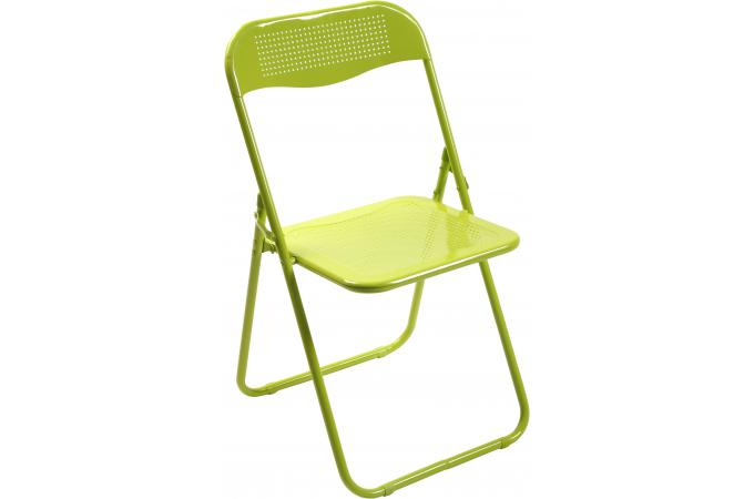 chaise pliante verte en m tal cassada chaise pliante pas cher. Black Bedroom Furniture Sets. Home Design Ideas