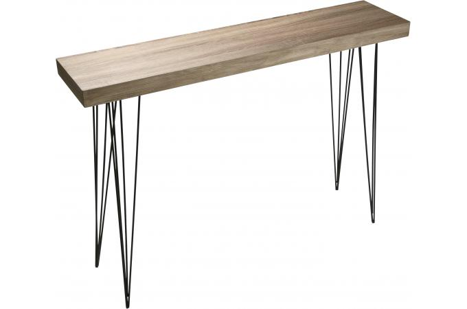 table d 39 entr e marron en bois vigoth table console pas cher. Black Bedroom Furniture Sets. Home Design Ideas