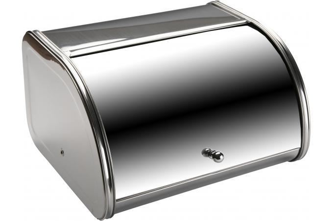 bo te pain argent e en acier cast boite pain pas cher. Black Bedroom Furniture Sets. Home Design Ideas