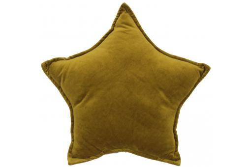 Coussin olive en velours Lucy
