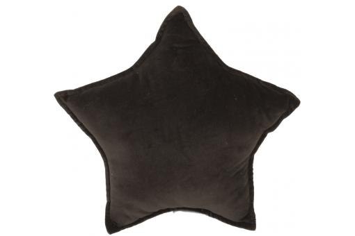 Coussin anthracite en velours Lucy