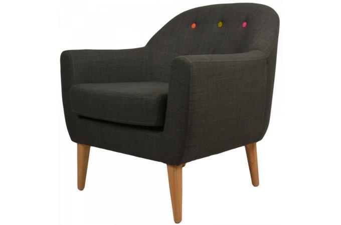 Fauteuil design gris anthracite karl fauteuil design pas cher - Fauteuil gris anthracite ...