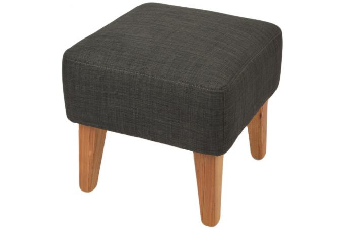 repose pieds anthracite en toile charlie petit tabouret pas cher. Black Bedroom Furniture Sets. Home Design Ideas