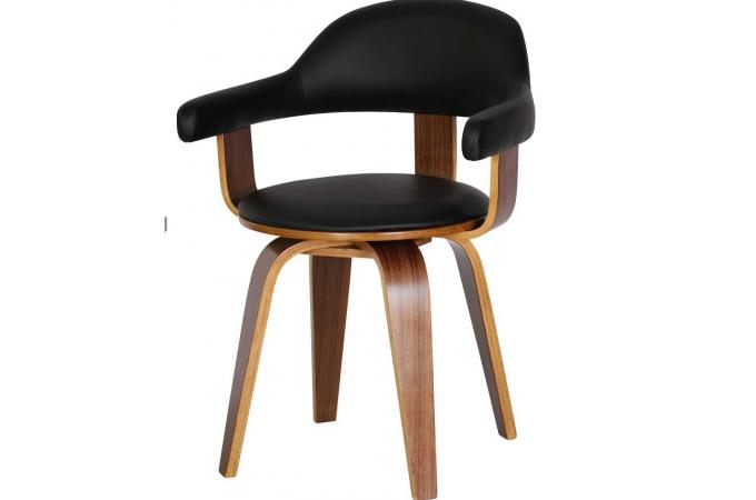 chaise noire en simili sweden chaise design pas cher. Black Bedroom Furniture Sets. Home Design Ideas