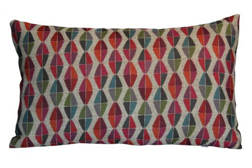 Coussin rouge en polyester Jodie