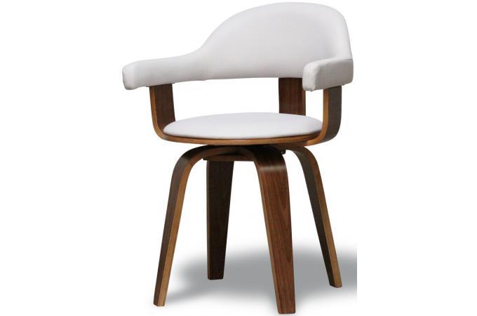 Chaise Blanche En Simili Cuir Sweden Chaise Design Pas Cher