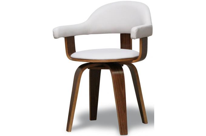 Chaise blanche en simili cuir sweden chaise design pas cher - Chaise blanche simili cuir ...