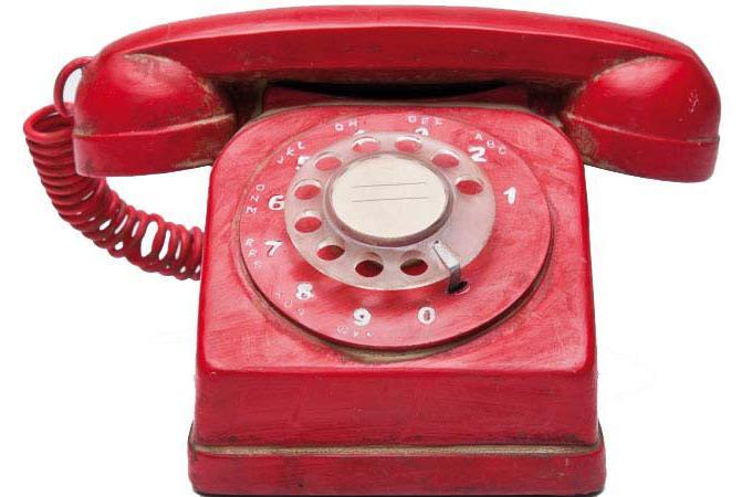 Tirelire t l phone vintage rouge tirelire pas cher - Objet deco design rouge ...