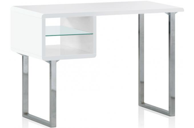 Table de bureau blanche agate bureau pas cher for Table de bureau pas cher