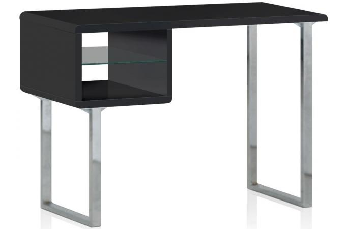table de bureau noire agate bureau pas cher. Black Bedroom Furniture Sets. Home Design Ideas