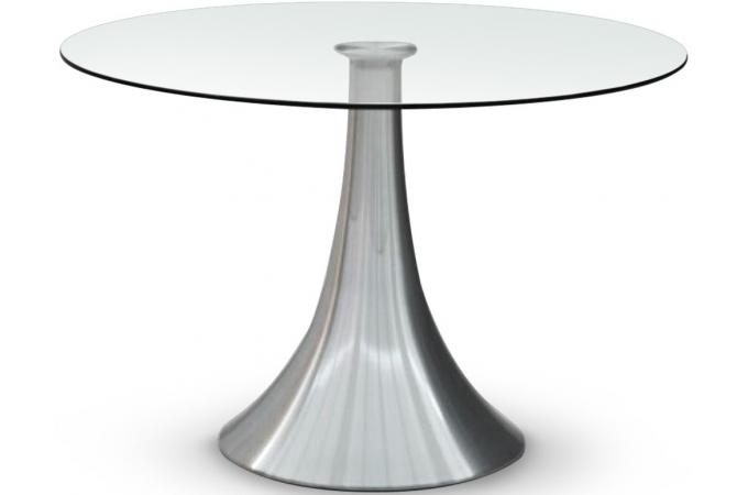 Table transparente en verre a ko table manger pas cher - Table a manger en verre design pas cher ...