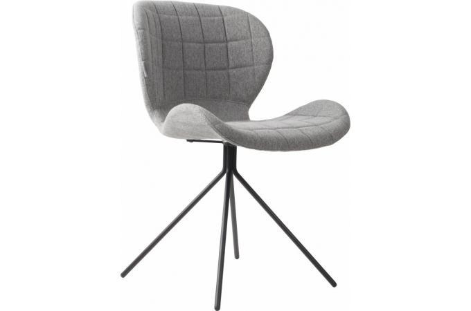 Vente chaise tritoo maison et jardin - Chaise grise tissu ...
