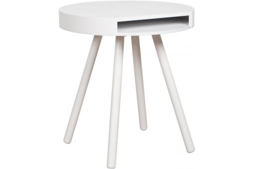 Table d'appoint blanc Elana