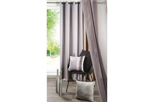 Rideau occultant taupe 135x260