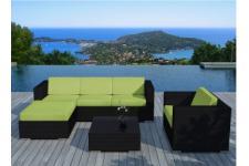 Salon de jardin: Table de jardin, fauteuil, chaise, hamac et transat