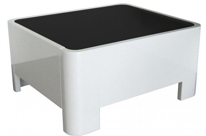 Table de chevet blanc laqu johnny table de chevet pas cher for Table de chevet blanc laque pas cher
