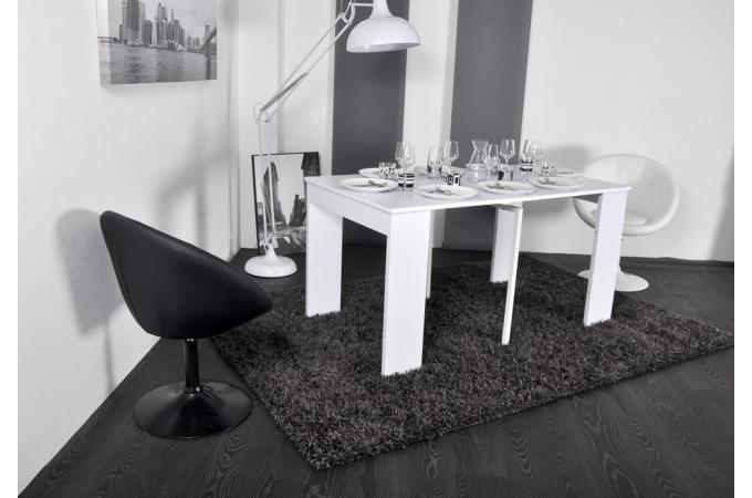 petit table console blanche 3 rallonges 145 cm miami table console pas cher. Black Bedroom Furniture Sets. Home Design Ideas