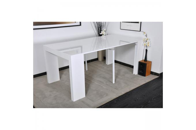 table console blanche laqu e 3 rallonges carla table console pas cher. Black Bedroom Furniture Sets. Home Design Ideas