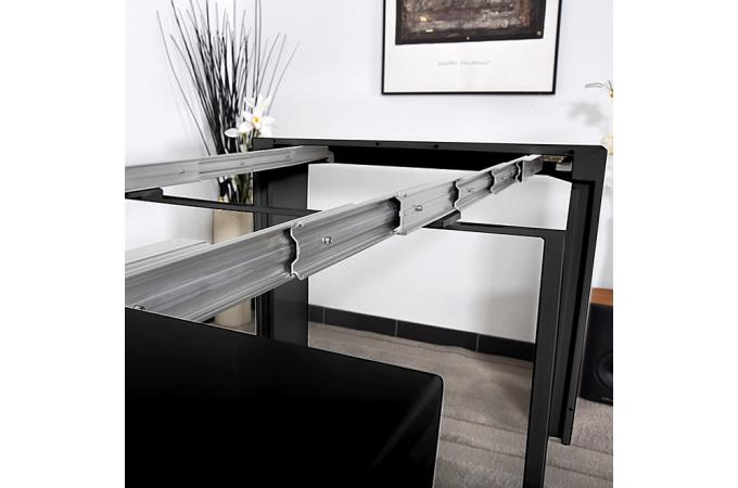 table console noire laqu e 3 rallonges carla table console pas cher. Black Bedroom Furniture Sets. Home Design Ideas