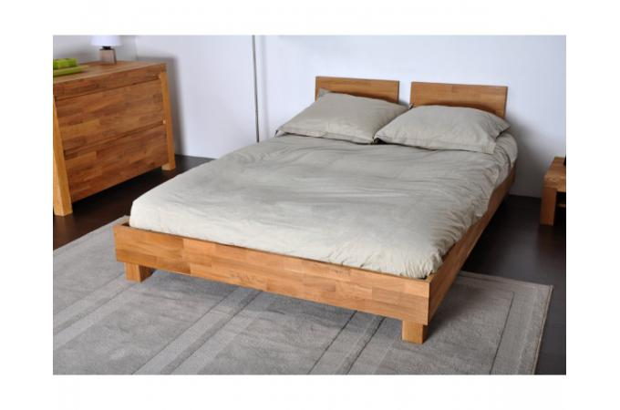 lit 140x190 2 t tes de lit en ch ne massif india lit design pas cher. Black Bedroom Furniture Sets. Home Design Ideas