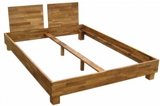 lit 160x200 2 t tes de lit en ch ne massif india lit. Black Bedroom Furniture Sets. Home Design Ideas