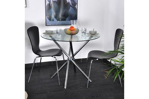 table ronde transparente solar table manger pas cher. Black Bedroom Furniture Sets. Home Design Ideas