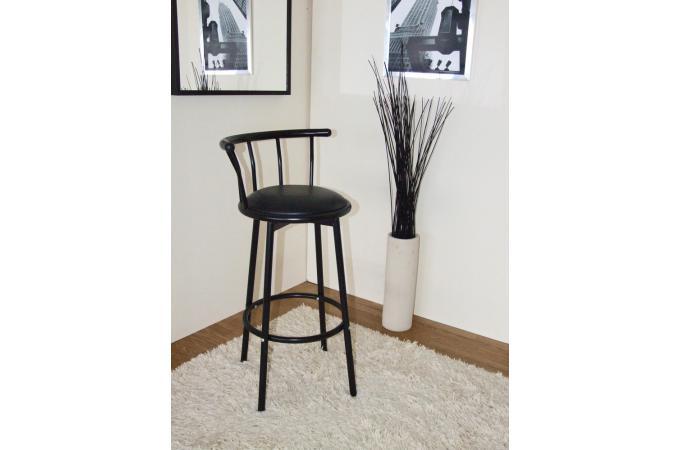 chaise de bar noire assise rotative zoe tabouret de bar pas cher. Black Bedroom Furniture Sets. Home Design Ideas