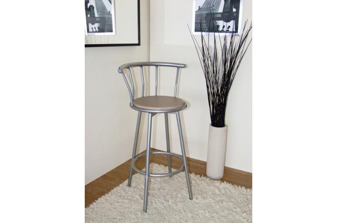 chaise de bar argent h tre assise rotative zoe tabouret de bar pas cher. Black Bedroom Furniture Sets. Home Design Ideas
