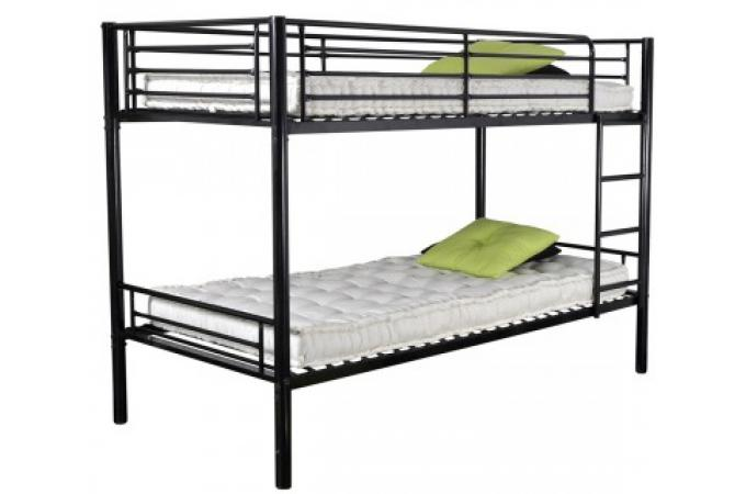 lits superpos s noirs 90x190 today lit design pas cher. Black Bedroom Furniture Sets. Home Design Ideas