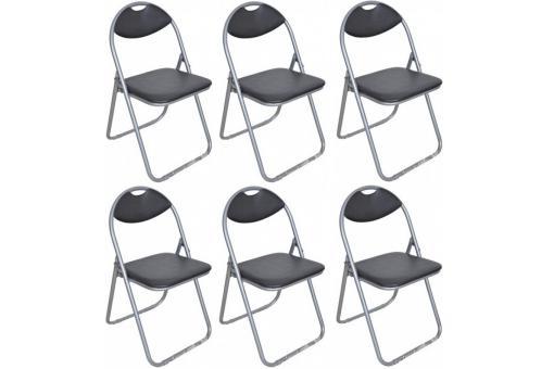 lot de 6 chaises pliantes noires ipag chaise design pas cher. Black Bedroom Furniture Sets. Home Design Ideas