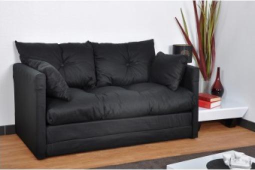 petit canap convertible noir 2 places marco canap. Black Bedroom Furniture Sets. Home Design Ideas